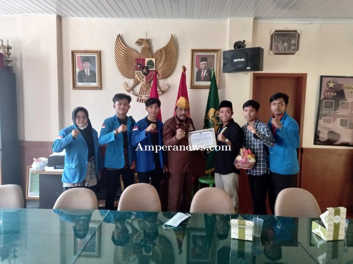 Semarak Kemerdekaan, PMII Dakwah UIN Raden Fatah Palembang Silaturahmi dengan Legium Veteran RI