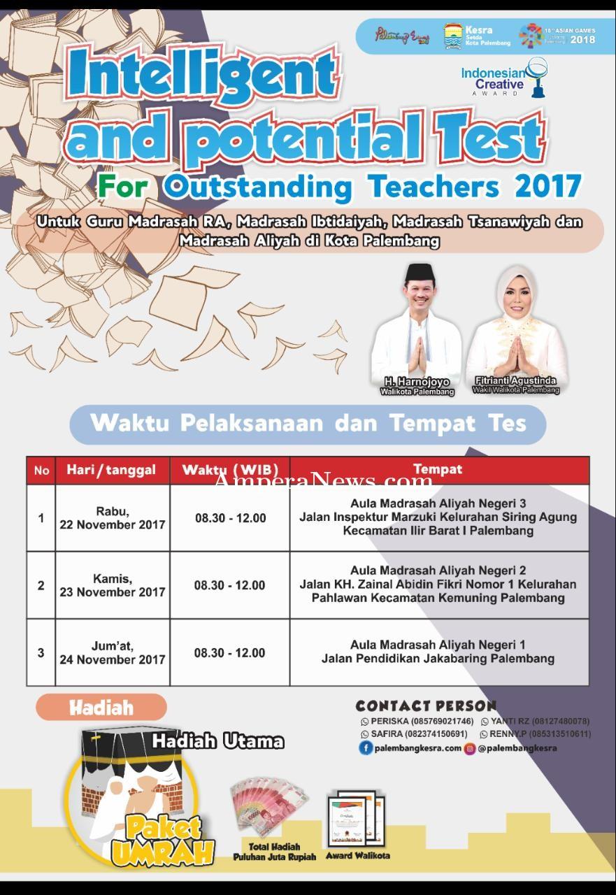 Spektakuler, Walikota Palembang Sediakan Umrah Gratis Bagi Guru Madrasah Berprestasi