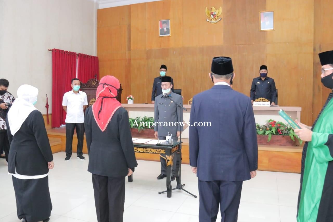 Lantik 20 Pegawai Jabatan Baru, Sekda Palembang Ingatkan Fokus Lawan Covid-19